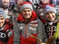 Piotr Żyła, Stefan Horngacher i Kamil Stoch (fot. Julia Piątkowska)