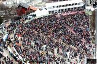Kibice na trybunach \'Bergisel\' w Innsbrucku (fot. Julia Piątkowska)