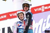 Roman Koudelka i Simon Ammann (fot. Julia Piątkowska)
