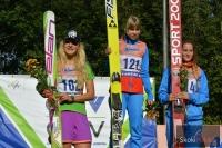 Podium konkursu Pań (Dolezelova, Gladysheva, Kustova), fot. Julia Piątkowska