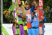 Podium pierwszego konkursu pań (Dolezelova, Gladysheva, Kustova), fot. Julia Piątkowska
