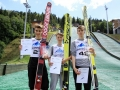 Podium konkursu mężczyzn (od lewej: D.Kastelik, B.Czyż, D.Jarząbek), fot. Alicja Kosman / PZN