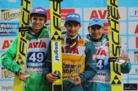 Podium klasyfikacji generalnej LGP 2016 (od lewej: A.Wellinger, M.Kot, K.Stoch), fot. Julia Piątkowska