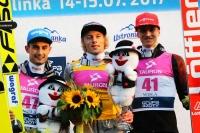 Podium konkursu (od lewej: Kot, Kubacki, Geiger), fot. Julia Piątkowska