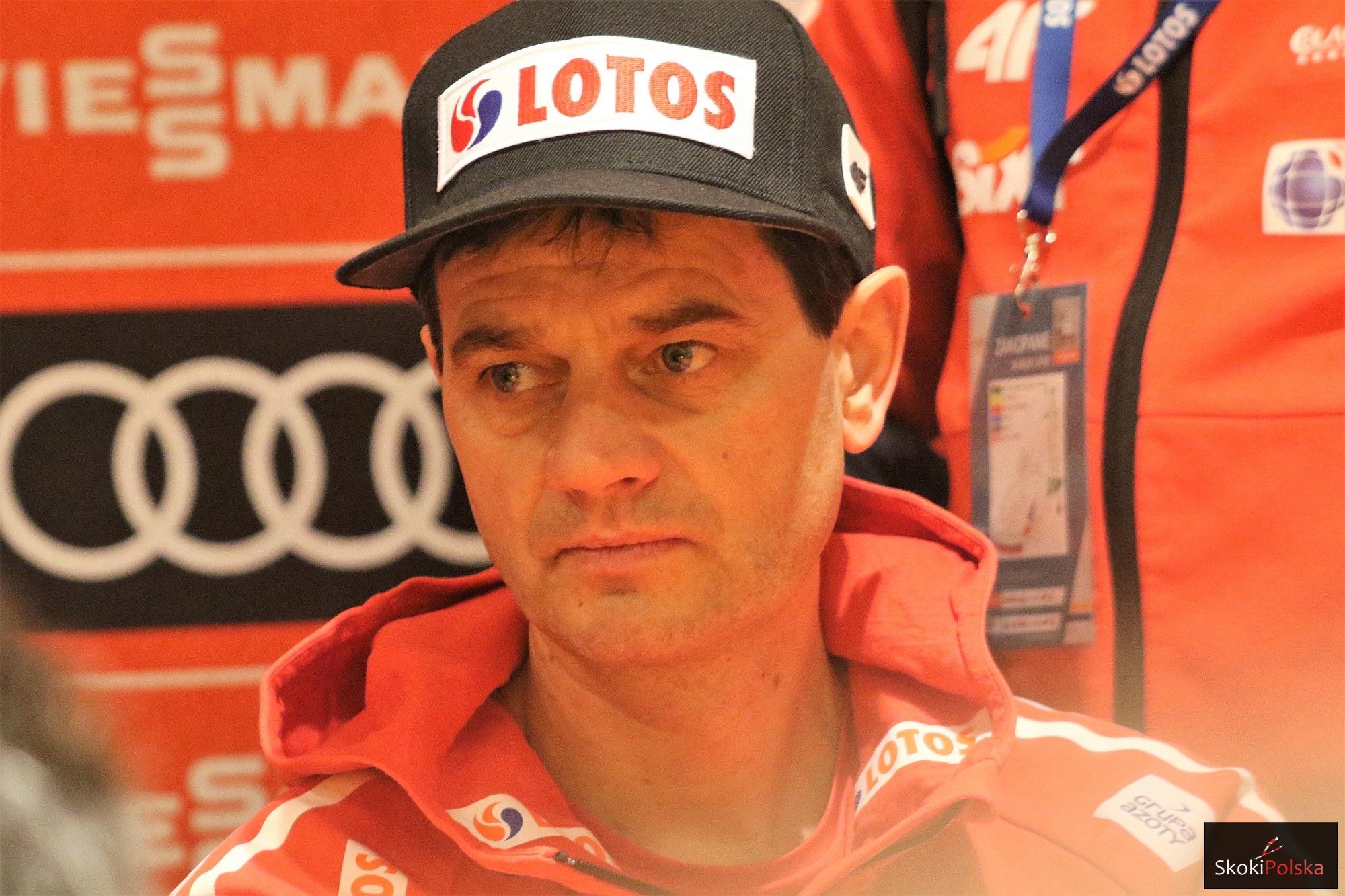 Trener Stefan Horngacher (fot. Julia Piątkowska)
