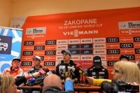Konferencja prasowa polskich skoczków (fot. Julia Piątkowska)
