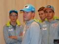 Maciej Maciusiak (w środku) z podopiecznymi z kadry B, fot. Bartosz Leja