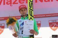 Markus Eisenbichler na podium, fot. Julia Piątkowska