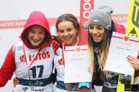 Podium LMP kobiet (od lewej: Kinga Rajda, Kamila Karpiel, Magdalena Pałasz), fot. Julia Piątkowska
