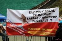 Transparent kibiców Macieja Kota, fot. Julia Piątkowska