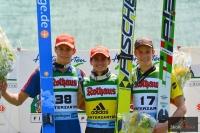 Podium (od lewej: A.Wellinger, R.Freitag, M.Pungertar), fot. Stefan Piwowar