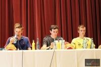 Konferencja prasowa (od lewej: A.Wellinger, R.Freitag, M.Pungertar), fot. Stefan Piwowar
