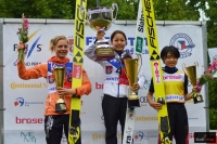 Podium konkursu (od lewej: M.Lundby, S.Takanashi, Y.Ito), fot. Bartosz Leja