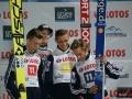 Norwegowie na podium (Forfang, Gangnes, Sjoeen, Fannemel), fot. Bartosz Leja