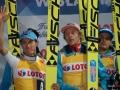 Polacy na podium (Stoch, Kubacki, Kot), fot. Bartosz Leja