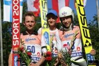 Podium konkursu (od lewej: S.Colloredo, L.Hlava, A.Zniszczoł), fot. Julia Piątkowska
