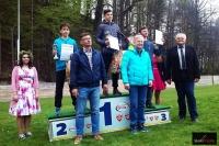 Podium w kategorii OPEN (od lewej na podium: Wiktor Fickowski, Patryk Hutyra, Norbert Harsche), fot. Mikołaj Szuszkiewicz
