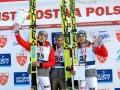 Podium konkursu (od lewej: D.Kubacki, P.Żyła, M.Kot), fot. Alicja Kosman / PZN