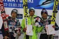 Podium mistrzostw (od lewej: S.Hula, M.Kot, P.Żyła), fot. Julia Piątkowska