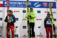 Podium mistrzostw (od lewej: S.Hula, M.Kot, K.Stoch), fot. Julia Piątkowska