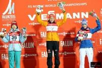 Podium konkursu (od lewej: Y.Ito, C.Vogt, D.Iraschko-Stolz), fot. Julia Piątkowska)