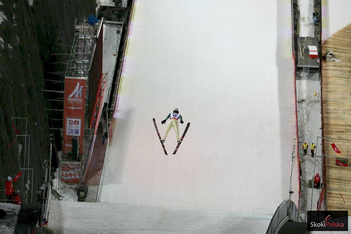 Jan Ziobro na skoczni w Falun (fot. Julia Piątkowska)