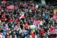 Kibice na skoczni 'Lugnet' w Falun (fot. Julia Piątkowska)