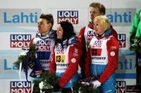 Austriacy na podium (od lewej: Kraft, Seifriedsberger, Hayboeck, Iraschko-Stolz), fot. Julia Piątkowska