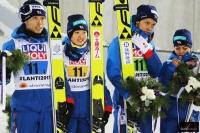 Japończycy na podium (od lewej: D.Ito, Y. Ito Takeuchi, Takanashi), fot. Julia Piątkowska