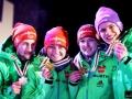 Niemcy ze złotymi medalami (od lewej: Eisenbichler, Vogt, Wuerth, Wellinger), fot. Julia Piątkowska