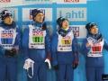 Japończycy na podium (od lewej: D.Ito, Takeuchi, Y.Ito, Takanashi), fot. Julia Piątkowska