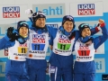Japończycy na podium (od lewej: Y.Ito, D. Ito Takeuchi, Takanashi), fot. Julia Piątkowska