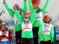 Niemcy na podium (od lewej: Wellinger, Eisenbichler, Wuerth, Vogt), fot. Julia Piątkowska