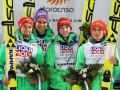 Niemcy na podium (od lewej: Eisenbichler, Wellinger Wuerth, Vogt), fot. Julia Piątkowska