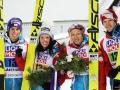 Austriacy na podium (od lewej: Kraft, Seifriedsberger, Iraschko-Stolz, Hayboeck), fot. Julia Piątkowska