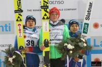 Podium konkursu (od lewej: Y.Ito, C.Vogt, S.Takanashi), fot. Julia Piątkowska