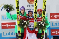 Podium konkursu (od lewej: A.Wellinger, S.Kraft, M.Eisenbichler), fot. Julia Piątkowska