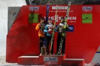 Podium konkursu (Wellinger, Biegun, Tepes), fot. Julia Piątkowska