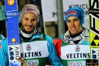 Manuel Fettner i Stefan Kraft, fot. Julia Piątkowska