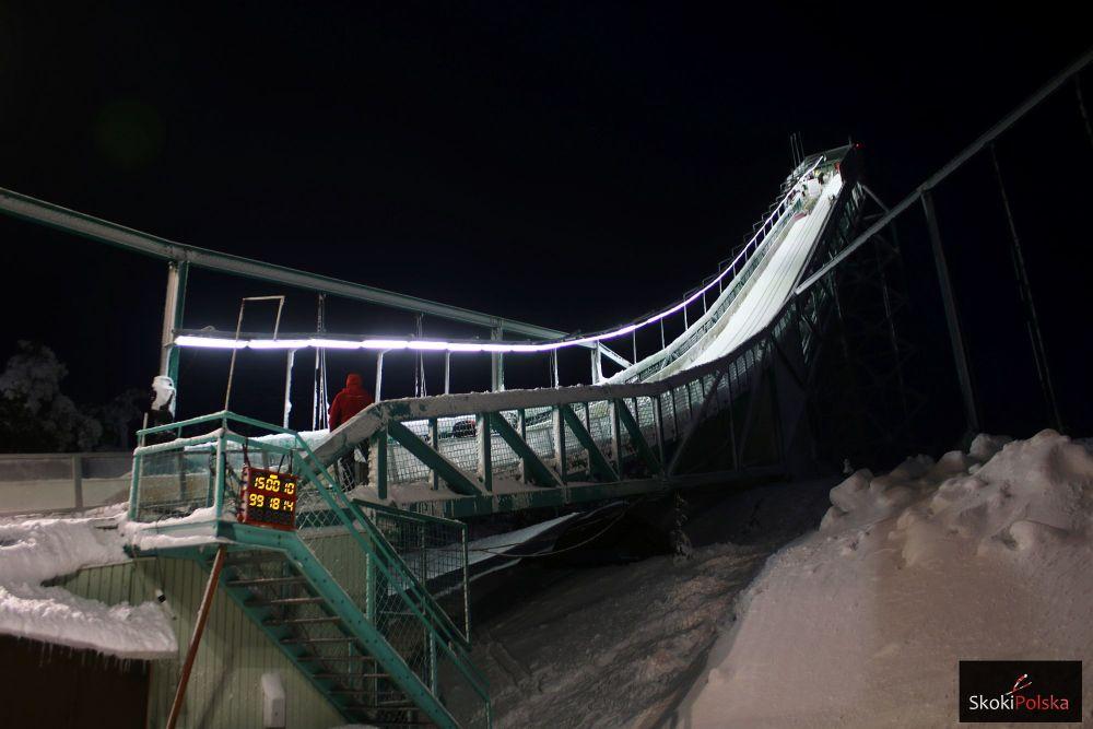 Rozbieg skoczni Rukatunturi w zimowej odsłonie (fot. Julia Piątkowska)