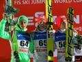 Podium konkursu (od lewej: P.Prevc, K.Gangnes, J.A.Forfang), fot. Julia Piątkowska