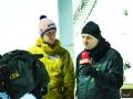 Martin Koch (z lewej) z komentatorem austriackiej telewizji, fot. Anastasia Poryadina