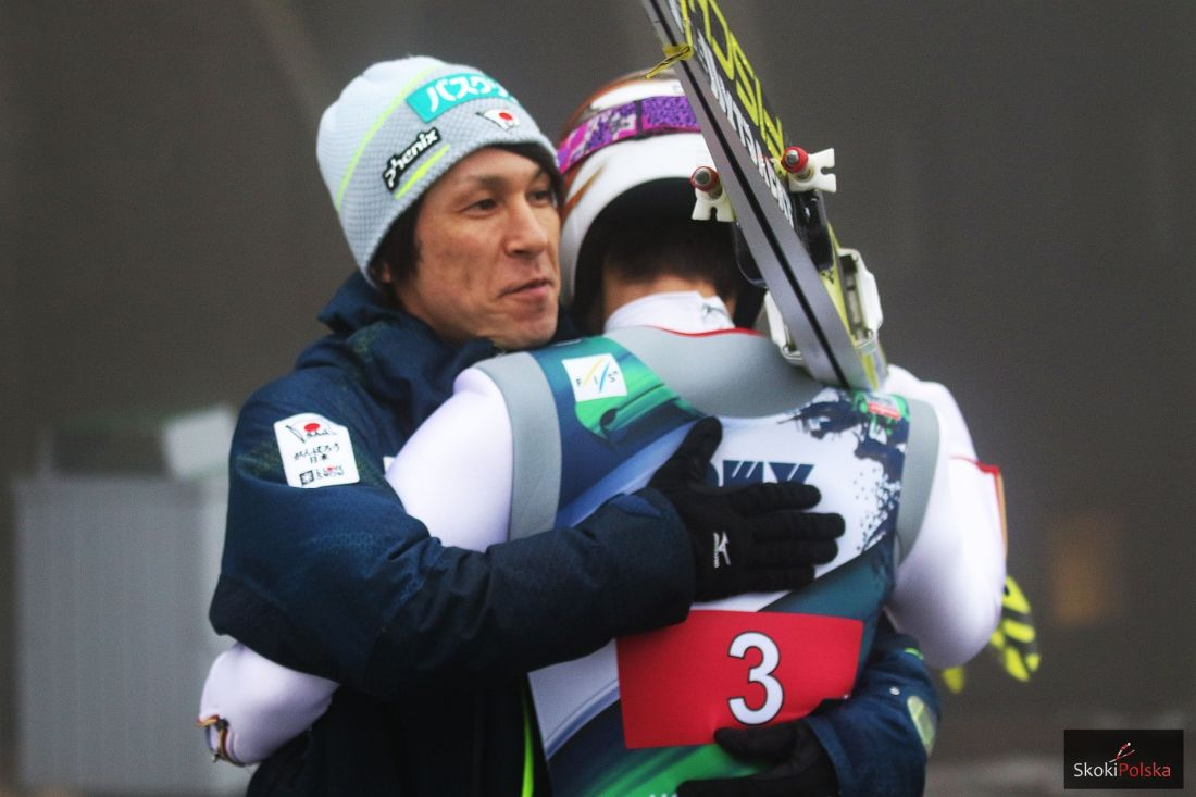 Noriaki Kasai i Taku Takeuchi, fot. Julia Piątkowska