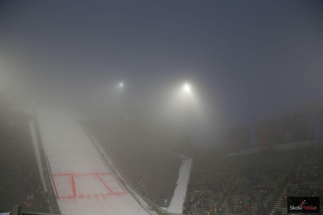 'Holmenkollbakken' w Oslo we mgle, fot. Julia Piątkowska