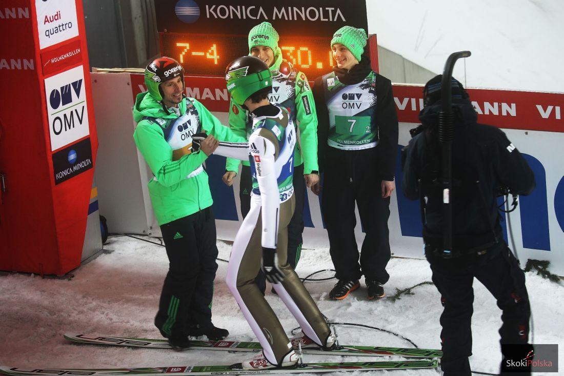 Słoweńscy skoczkowie, fot. Julia Piątkowska
