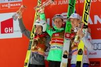 Podium finałowego konkursu (od lewej: R.Kranjec, P.Prevc, J.A.Forfang), fot. Julia Piątkowska