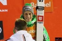 Peter Prevc na podium (fot. Julia Piątkowska)
