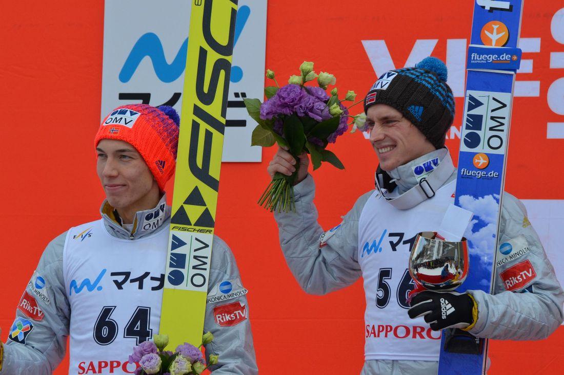 Johann Andre Forfang i Anders Fannemel, fot. Przemek Wardęga