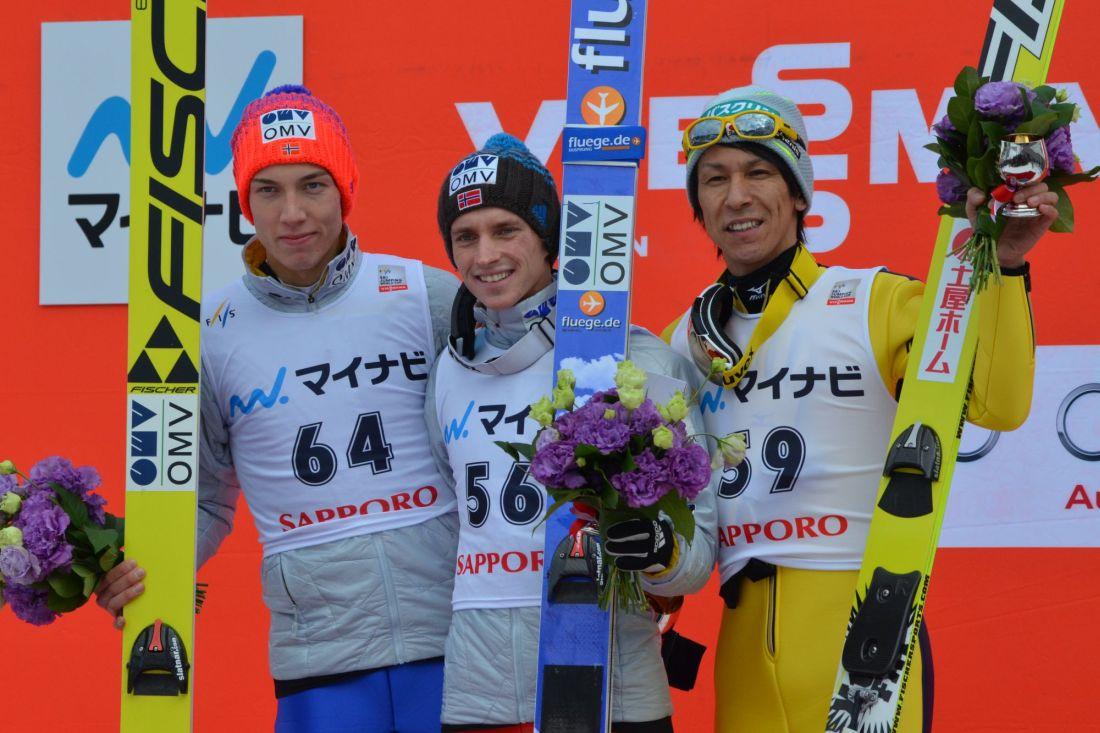 Podium drugiego konkursu PŚ Sapporo 2016 (fot. Przemek Wardęga)