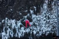 Skoczek w locie na 'Heini-Klopfer-Skiflugschanze' w Oberstdorfie (fot. Frederik Clasen)